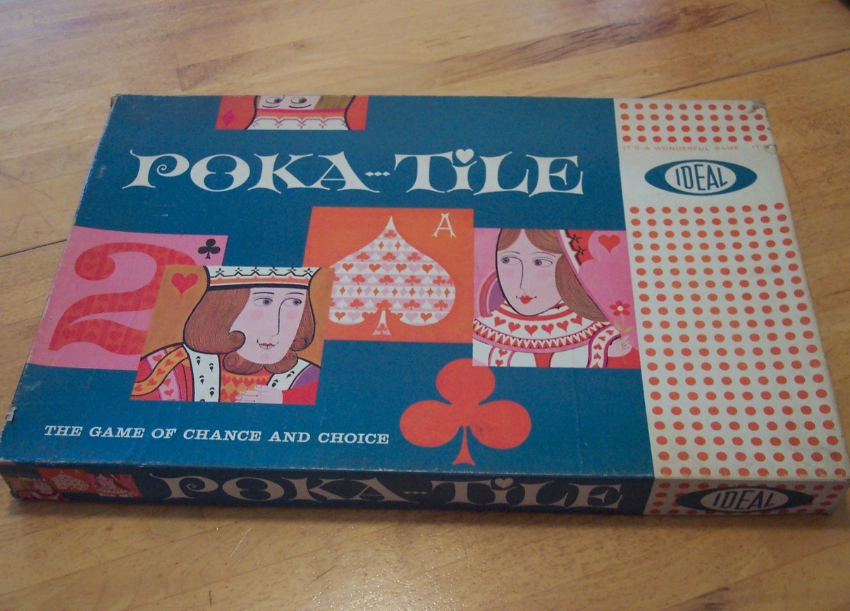 PRICE REDUCED! RARE 1961 Ideal Poka-Tile Board Game