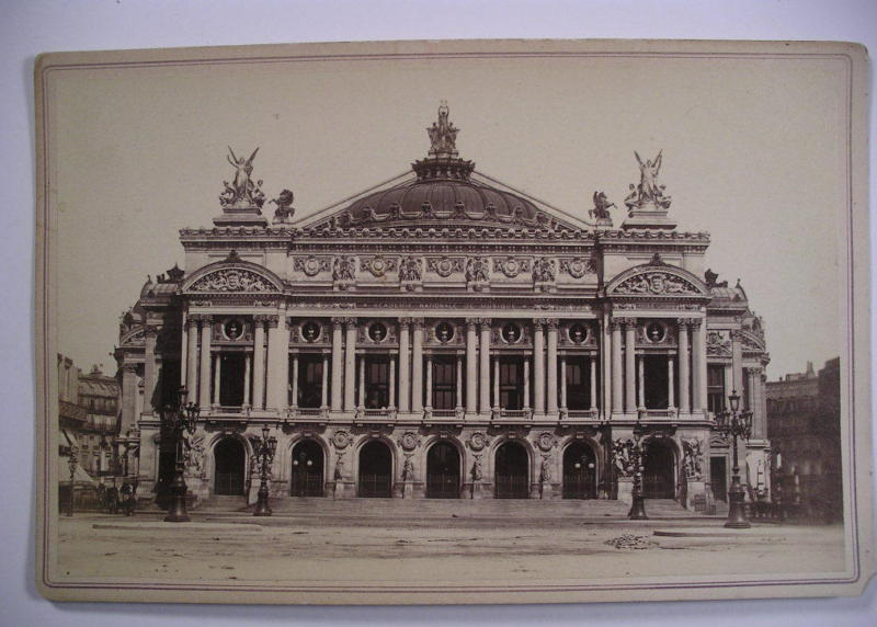 Cabinet Photo PARIS OPERA (Palais Garnier) c1880