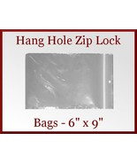 100 Zip Lock Recloseable Poly Bags with Hang Ho... - $12.75