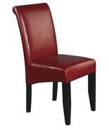 Crimson Red ECO Leather Dark Espresso Wood Legs... - $88.00