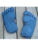 Fun Feet concrete plaster cement stepping stone... - $26.95