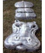 Hippo 3 piece stone concrete plaster cement mold - $52.00