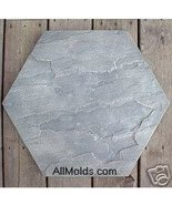 River Stone Hex concrete cement stepping stone ... - $26.95