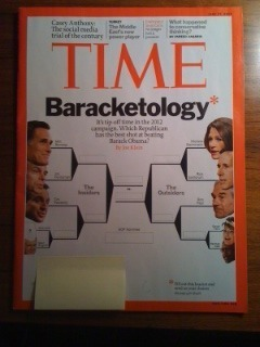 Time Magazine Baracketolgy Issue Fill Out the Brackets Casey Anthony 6/27/11