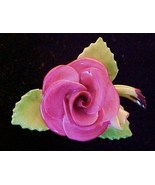 Lovely CARA China Rose Pin Staffordshire England - $14.95