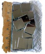 50 Mosaic Tiles ~1-1/2 Inch Square Mirror~ Silver Backed