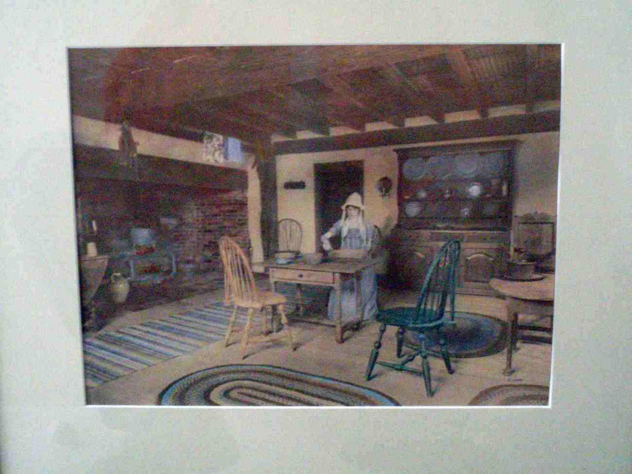 Wallace Nutting interior lithograph c. 1916 art print