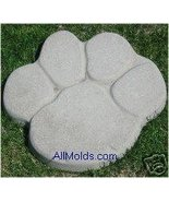 Paw Print concrete plaster cement stepping ston... - $26.95