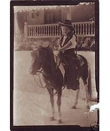 Vintage Photograph Little Cow Poke on Pony Cute... - $6.00