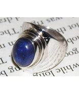 Lapis Lazuli domed ring in Sterling Silver size 6 - $23.00