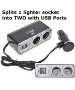 2 Socket Car Cigarette Power Splitter w/500mA U... - $4.99