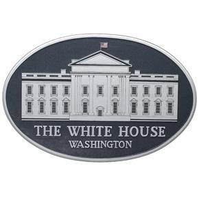 White House Logo Mahogany Plaque