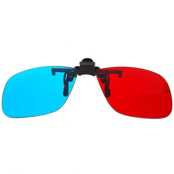 Clip on 3D Glasses Reusable Plastic Resin Movie Games