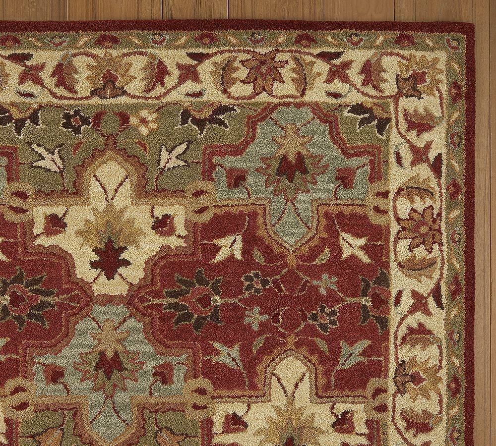 New Brand Devlin Persian Rug Handmade 100 Wool Area Rugs: New Pottery Barn Handmade Persian CECILIA Area Rug 5X8
