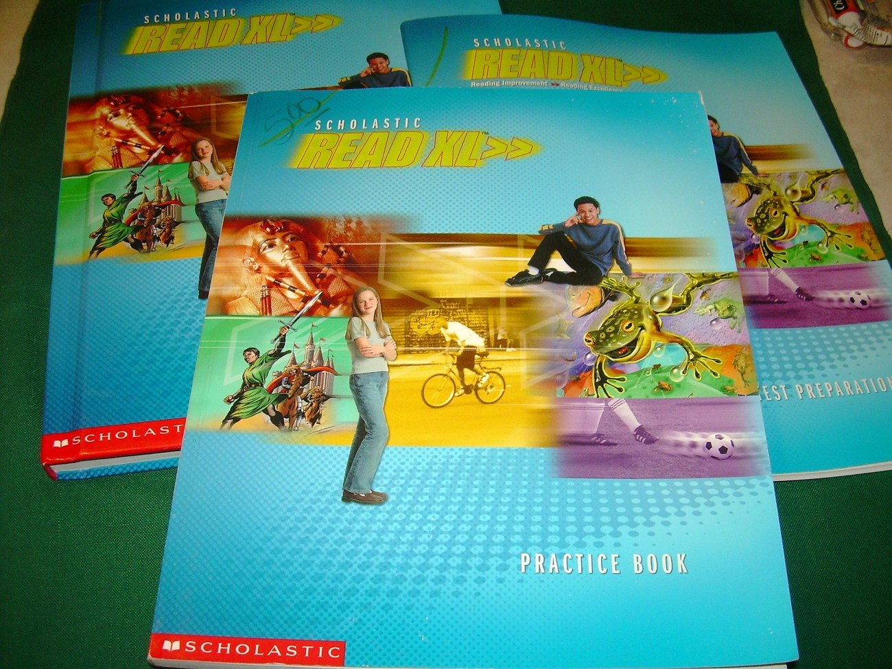 Scholastic Read XL 6th Gr Textook,practice book, test prep