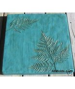 Fern Leaf concrete plaster cement stepping ston... - $22.00