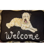 Wheaten Terrier Custom Painted Welcome Sign Plaque - $31.95
