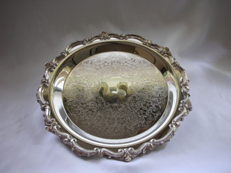 Poole Silverplate Tray