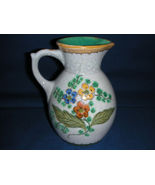 Gouda Dutch Floral Hand Painted Pottery Pitcher - $29.00