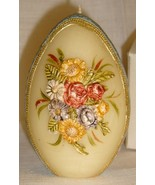 Beautiful Vintg Egg-Shaped Easter Candle, Flora... - $7.95