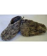 Crocheted Slippers tan camo M 7 8 inch medium new - $5.00