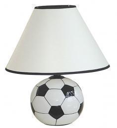 Pair of Ceramic Soccer Ball Table Lamps Sports Theme