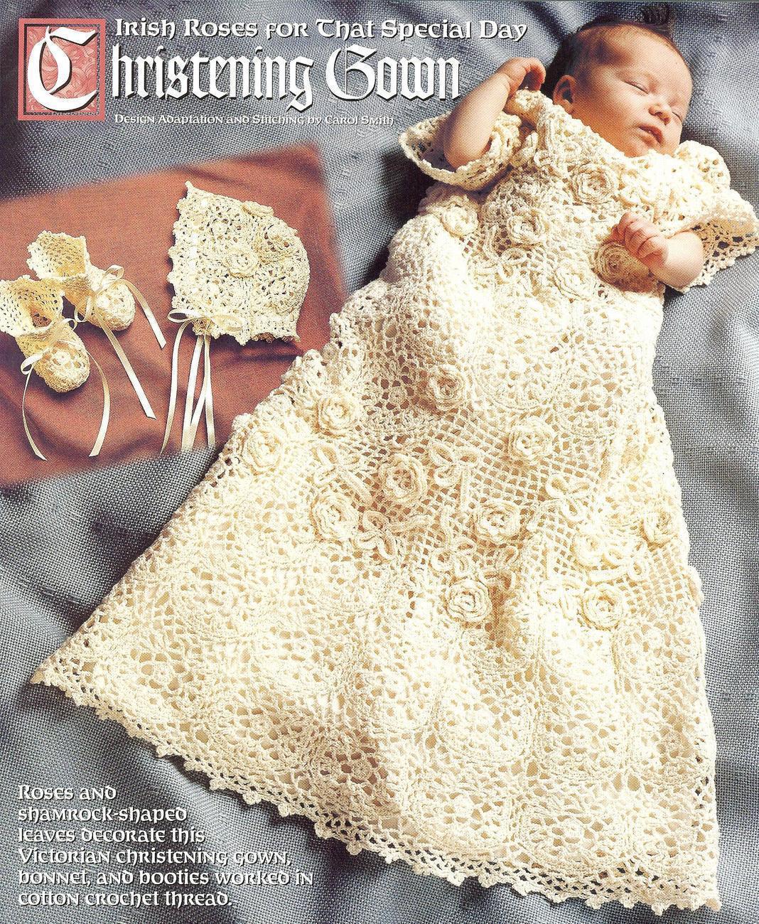 Free Crochet Pattern Baby Cradle Purse : CROCHETED CHRISTENING GOWN PATTERNS CROCHET FREE PATTERNS
