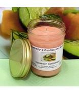 Cucumber Cantaloupe PURE SOY Jelly Jar Candle - $8.00