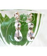 E1416 Bling Bling White Crystal Clip On Earring... - $5.50