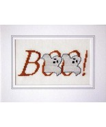 Boo halloween cross stitch card chart Linda Jea... - $5.40