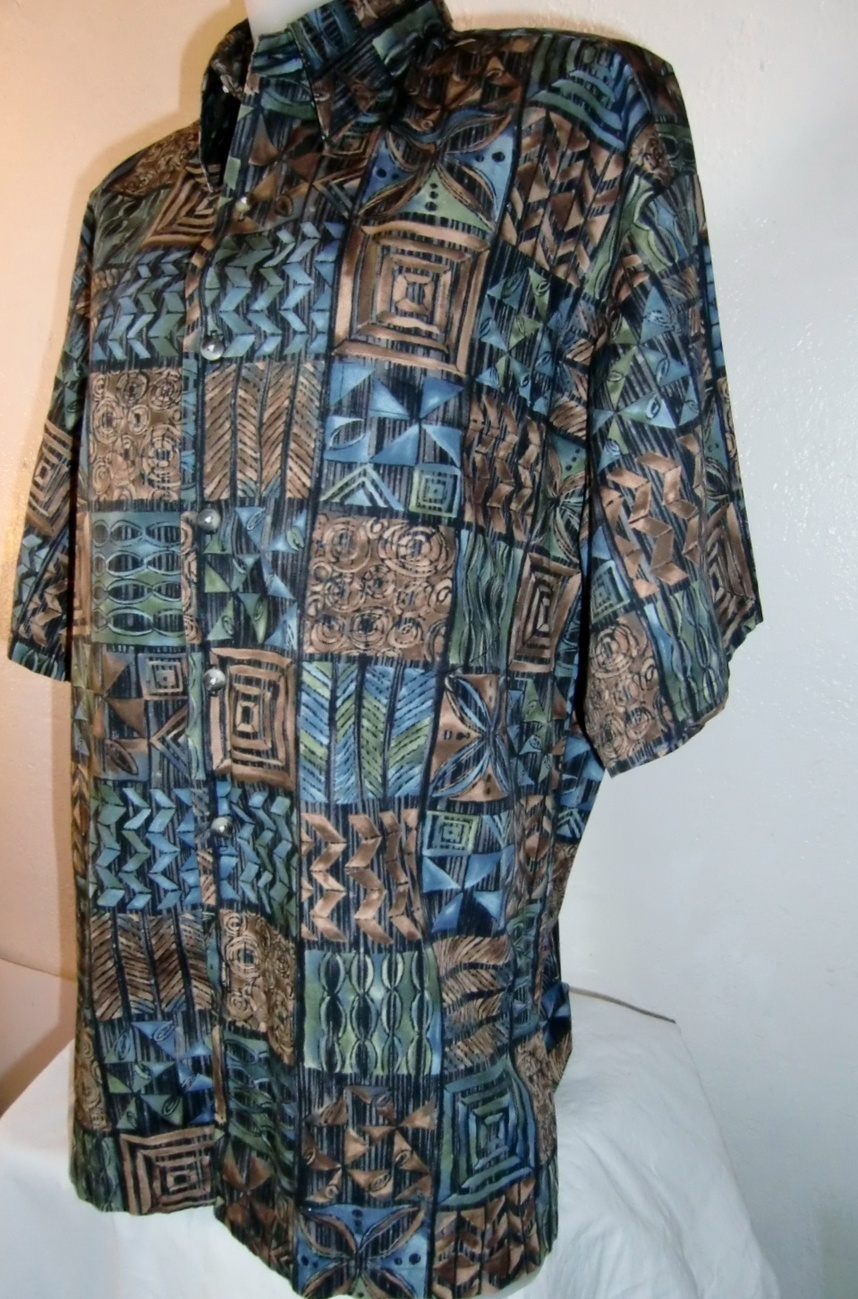Vintage Men  Hawaiian Shirt Aloha Shirt Tori Richards Pau Hana Shirt