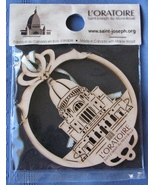 St Joseph Oratory Hanging Ornament Maple Wood M... - $6.92