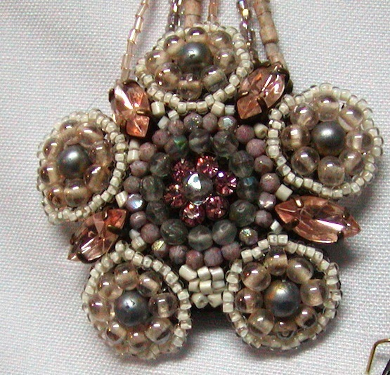 Mondi Necklace Seed Pearl Pendant, Muted Colors, Made in Italy,Unusual