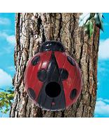Whimsical Ladybug Birdhouse  Wood - $19.99