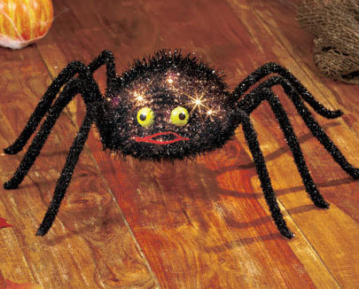 Electric Lighted Spider Decor