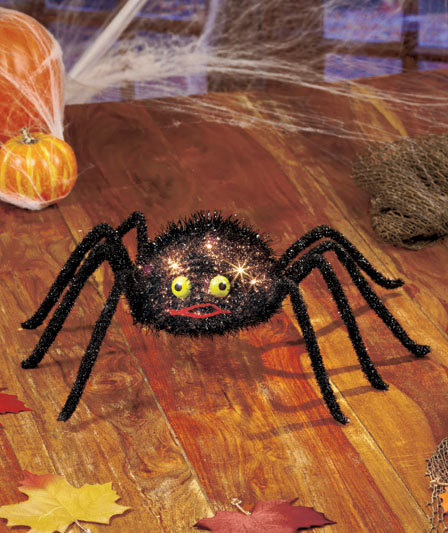 Image 1 of Electric Lighted Spider Decor