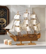 Schooner Model Nautical Boat Statue - $45.00