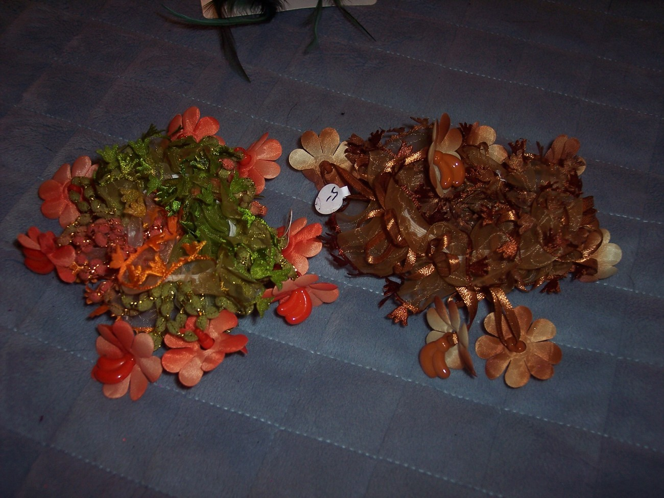 Lot of 2 Handmade Ponytail Holders/ Scrunchies Thanksgiving Theme and Colors