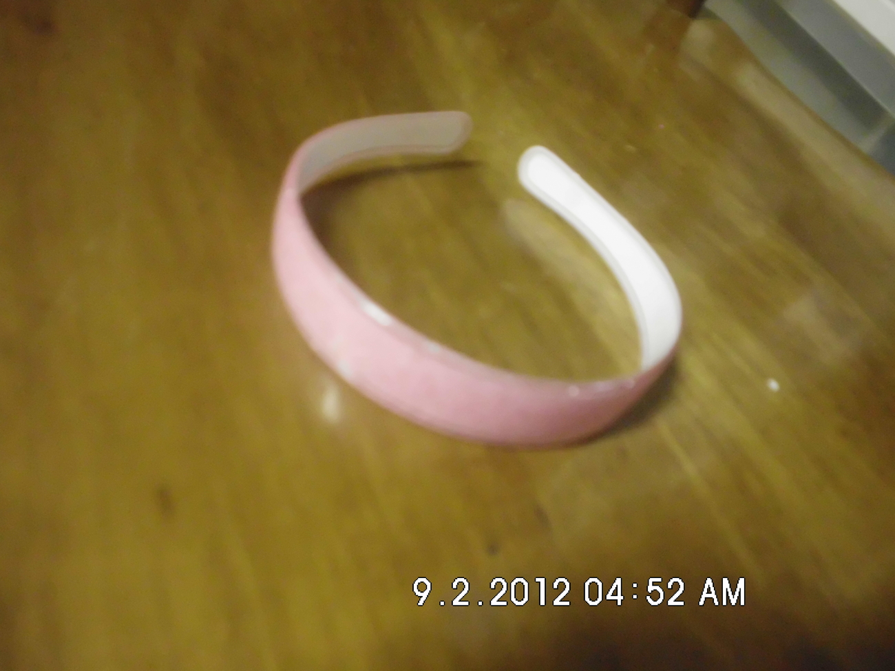 Light Pink Plastic Sparkle Headband