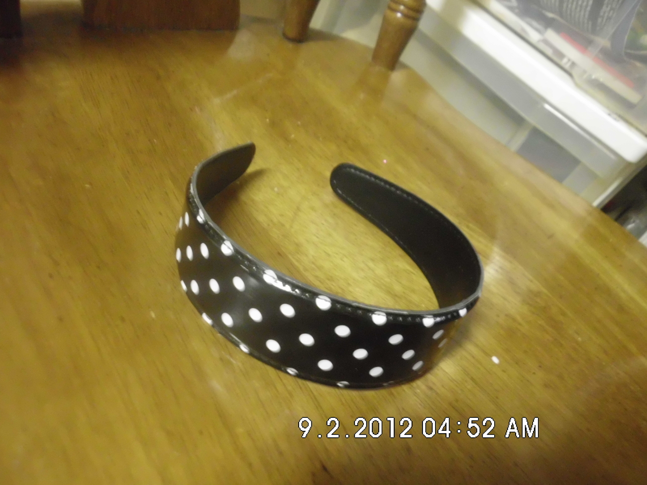 Black With White Polka Dots Headband