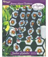 Garden Splendor Afghan~Granny Square Crochet Pa... - £1.50 GBP