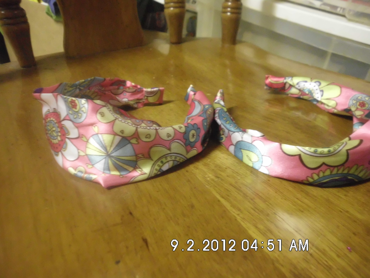 Lot of 2 Pink Headbands Multidesign