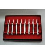 Vintage Kalmar Designs Stainless Steel Forks Italy Box of 8 - $12.99