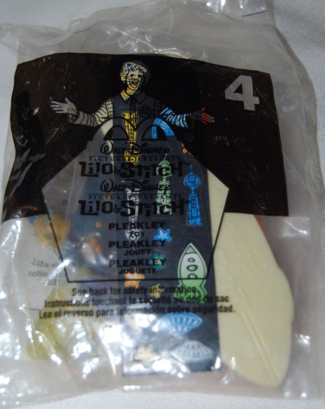 Mcdonalds 2002 disney lilo stitch pleakley toy 4 fast food