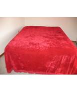 Red Crushed Velvet Bedspread Romantic Valentine... - $120.00