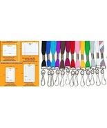 170 Neck Lanyards (2 Styles/13 Colors) + 170 Cl... - $71.57