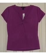 August Silk Purple Blouse size X Large ~ New ~ - $15.00