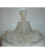 American Brilliant Crystal Decanter Cordial Gla... - $799.00