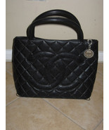 CHANEL black Caviar Large Medallion Tote  $2350... - $750.00