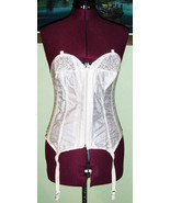 Sexy 60's 70's Vintage White Bustier Corset 36C... - $20.00